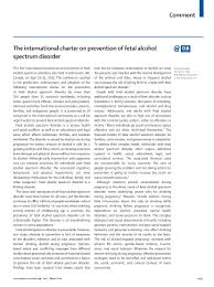 north west fasd network the international charter on prevention of fetal alcohol spectrum disorder page 1