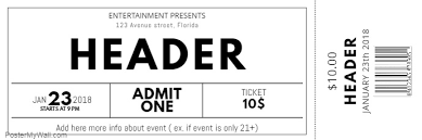 free ticket design template black and white free concert event ticket template postermywall