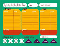 Calorie Tracking Chart Free Printable Food Calorie Chart