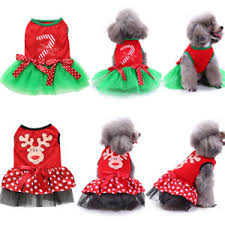 Details About New Pet Puppy Dog Christmas Dress T Shirt Clothes Large Small Dog Winter Apparel