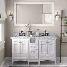 Birch Lane Luz 60 Double Sink Bathroom Vanity Set Reviews Wayfair