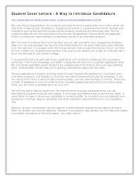 Free High School Student Job Cover Letter Templates At