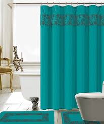love this turquoise lilian 15 piece shower curtain set