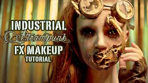 industrial steunk fx makeup tutorial part 2 application f sport lt