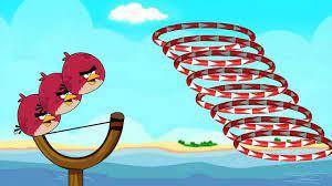 Angry Birds Slingshot Fun 2 - SKILL GAME WALKTHROUGH SHOOT BIRD THROUGH  CIRCLE RING! - YouTube