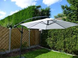 aluminum free standing umbrella for modern patio — home ideas