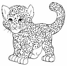 Small Picture Cheetah Coloring Page kiopadme