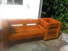 wooden bench with planters planter seat pallet combo garden and wooden bench with planters planter seat cedar