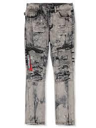 Akademiks Size Chart Akademiks Boys Splattered Moto Jeans