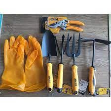 Bộ 6 dụng cụ làm vườn, trồng cây đa năng tiện lợi HFTT658 - HFTF38 -  HGR1008 -HGT979K - HPS0109 - HGVP02 - Dụng cụ làm vườn Thương hiệu Ingco