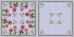 Free Biscornu Charts Biscornu Flowers Bees Free Cross Stitch Patterns Crochet