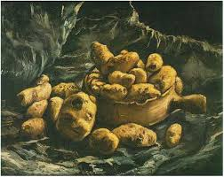 image only van gogh still life with an earthen bowl and potatoes