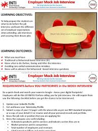 ws employer mock job interview