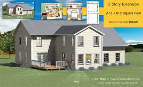 two story extension plans and building cost