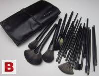 pictures of 12 mac professional make up 8 pcs brush set w leather pouch