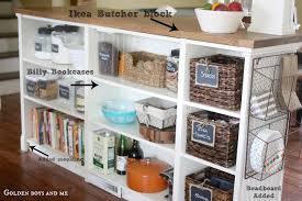 Bookshelves Turned Kitchen Island Ikea Hack