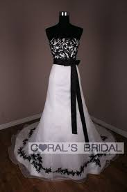 wd10128 f anne marie black and white wedding dress