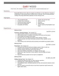 Delivery Driver Resume New Delivery Driver Cv Kenicandlecomfortzone