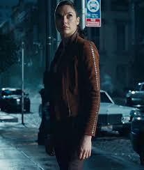 wonder woman brown motorcycle jacket