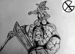 dota 2 drawing alchemist by xakdrawing on deviantart