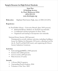 Resumes Outline Sample Resume Outline 8 Examples In Pdf Word