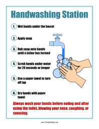 Hand Washing Chart Free Printable Printable Handwashing Station Sign Sign