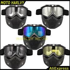 motorcycle face mask dust mask detachable motocross goggles mouth filter for cafe racer modular open face moto vine helmets sungl for motorcycle