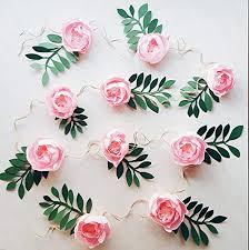 Paper Flower Backdrop Garland Amazon Com Paper Flower Garland Teepee Flowers Crepe Paper