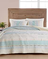 Quilts and Bedspreads - Macy's & Martha Stewart Collection Cotton Earth-Tone Stripe Quilt and Sham  Collection, Created for Macy's Adamdwight.com