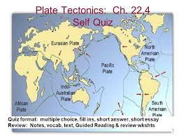 plate tectonics ch self quiz ppt video online  1 plate