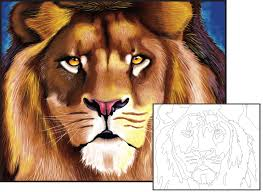 lion painting acrylic. Perfect Lion Acrylic Paint African Lion And Painting T