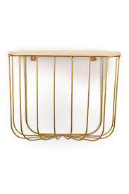image of concepts in time natural wood gold wall shelf