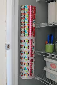 hall closet organization ideas and hall closet storage ideas wrapping paper organier