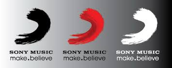 sony music logo. sony music make believe logo