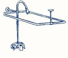 clawfoot tub shower fixtures. r2200a clawfoot tub shower faucet and rectangular combo set fixtures e