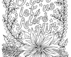 Christmas Candle Coloring Page Christian Scripture Color Book Etsy