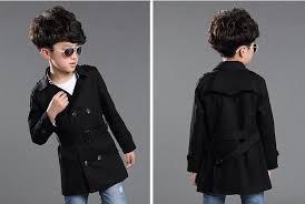 fashion boys jacket 2016 spring autumn kids trench coat roupas infantis menina children double ted trench