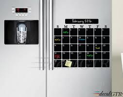 chalkboard calendar decal for fridge