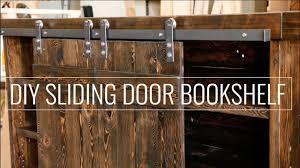 create a diy sliding door bookshelf