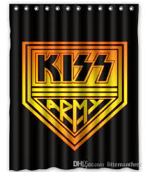 2019 logo kiss army design shower curtain size 140 x 180 cm custom waterproof polyester fabric bath shower curtains from littemanthree 25 13 dhgate com