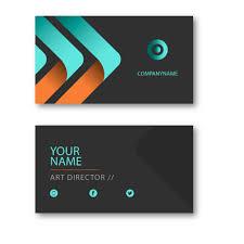 Visiting Cards Blue Orange Visiting Card VC24 BK Designs 9