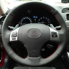 diy leather steering wheel covers black for lexus is200 is is250 is250c is300 is300c is350 is350c f sport rx330 rx400h rx400