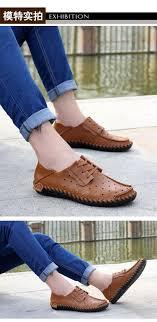 summer men shoes soft leather men loafers shoes moccasins men summer shoes fashion flats breathable hole
