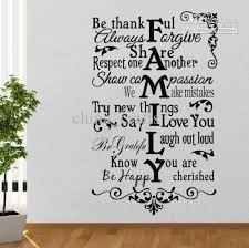 Wall Quotes Impressive Fashion Family Wall Quote Decal Sticker Decor Living Room Lettering