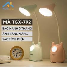Đèn học để bàn chống lóa chống cận thị cho trẻ em sạc led tích điện kiêm Đèn  ngủ và Đọc sách mã TGX792.36019 - Đèn bàn Nhãn hàng No brand