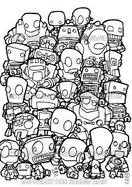 robot colouring page colouring book page by pencilpirates