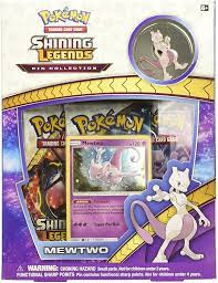 The cards are numbered to 73 and the set contains 5 secret rare cards bringing the set total to 78. Amazon Com Pokemon Cards Poksm35pinbx Sm3 5 Shining Legends Mewtwo Pin Box Toys Games