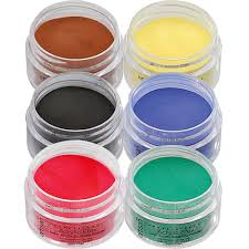 artisan colored acrylic nail powder primary colors starter kit in stock