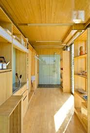 Shipping Container Home Interior Design #GreenHomeDesigns >> Learn more  about green home designs at