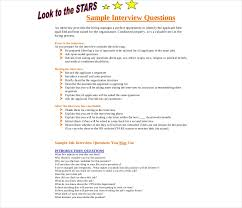 Interview Question Examples Free 8 Samples Of Pre Interview Questionnaires In Pdf